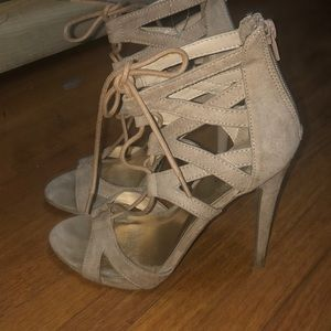 Mossimo lace up heels